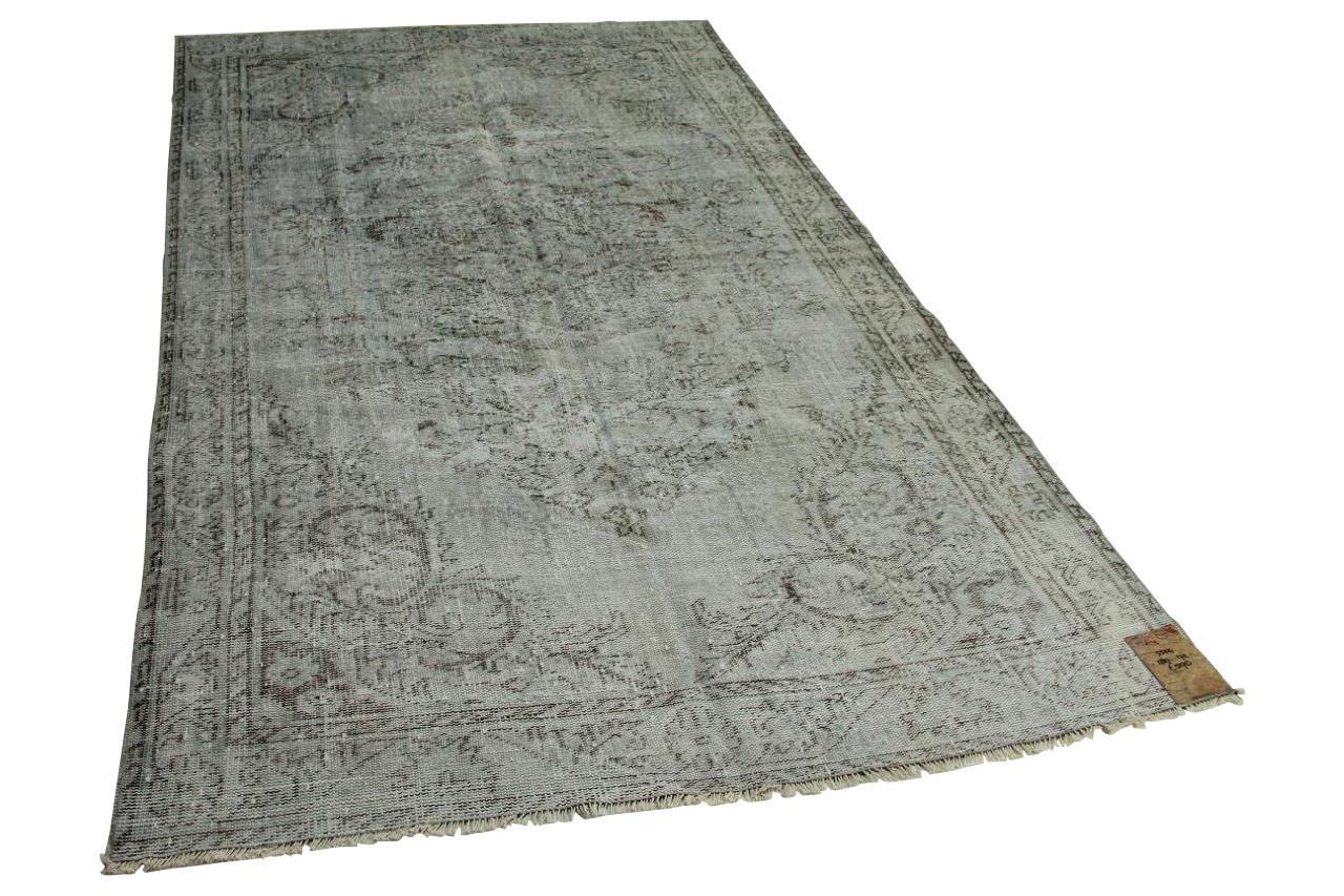 Vintage vloerkleed grijsblauw 280cm x 172cm nr5504