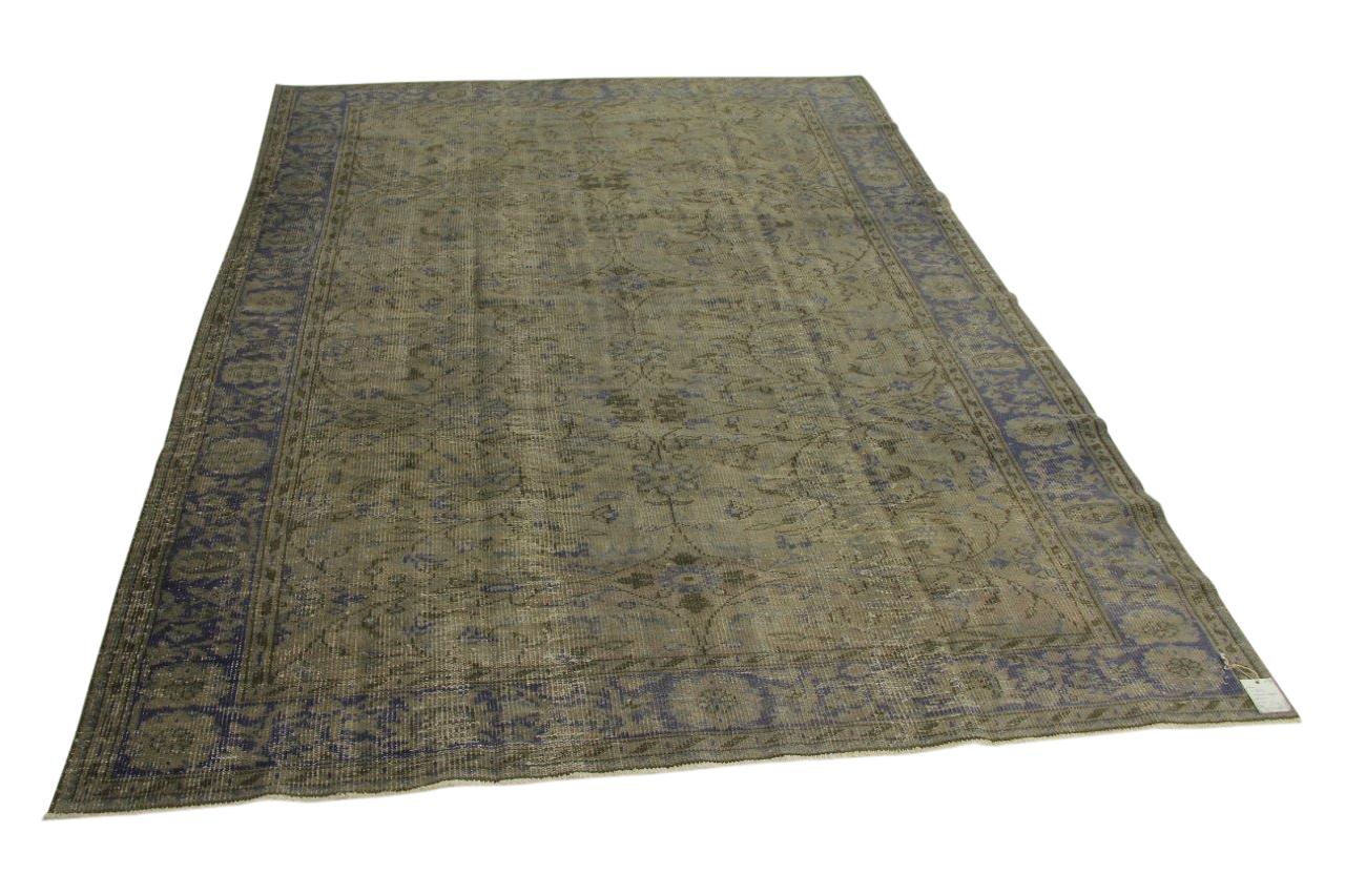 Vintage vloerkleed, grijsblauw, 295cm x 206cm nr8854