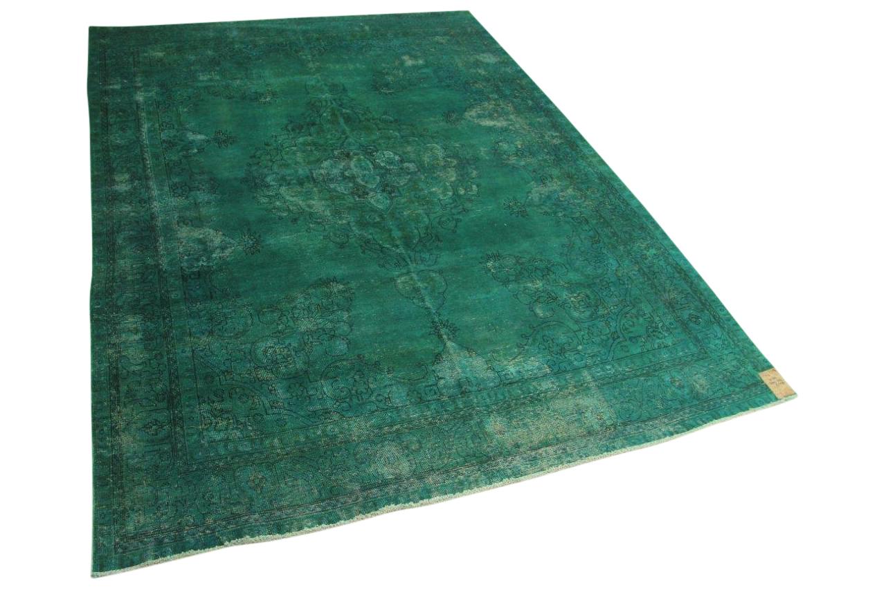 Vintage vloerkleed groen 390cm x 287cm nr12139