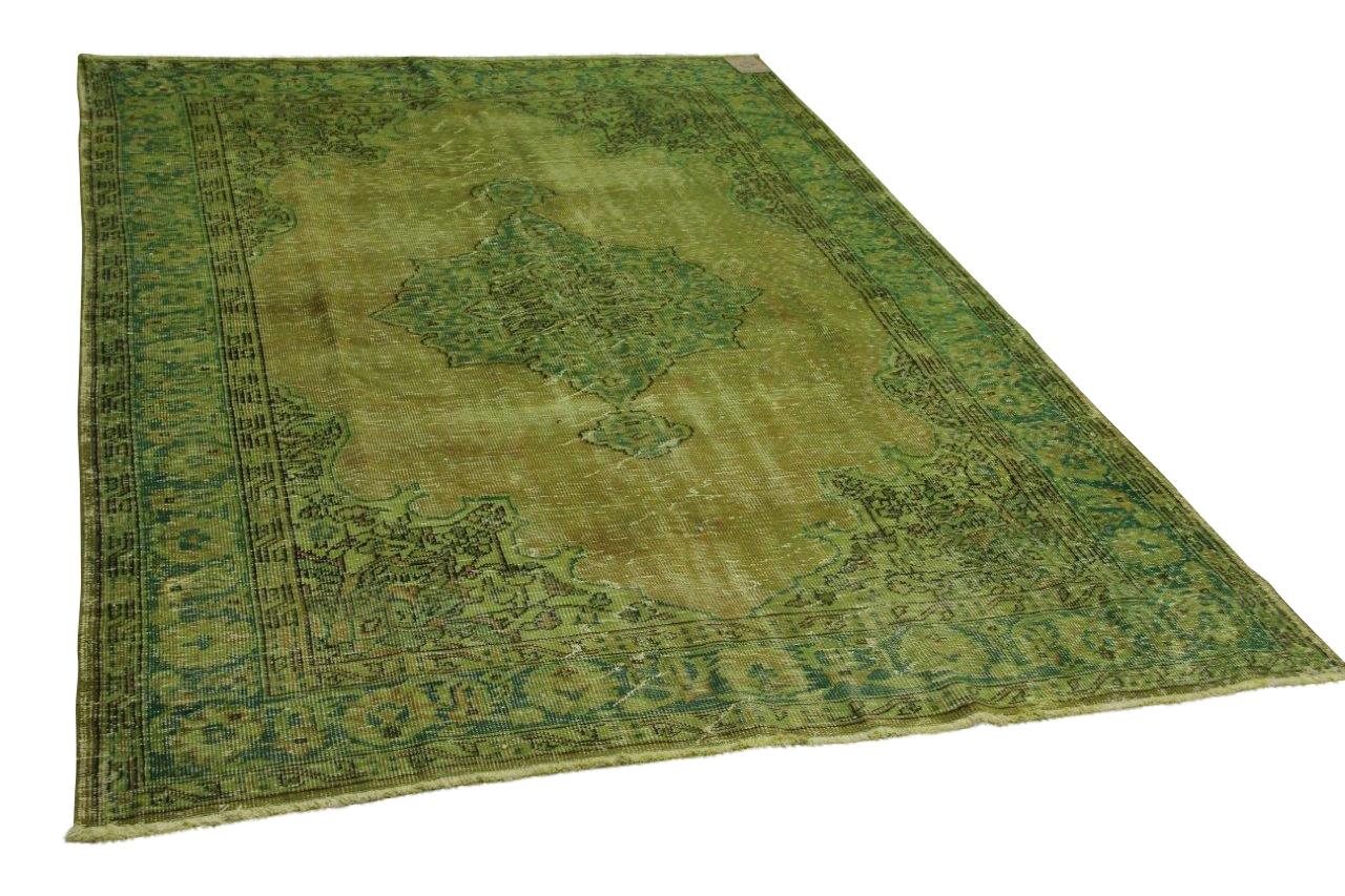 Vintage vloerkleed groen 298cm x 195cm nr12602