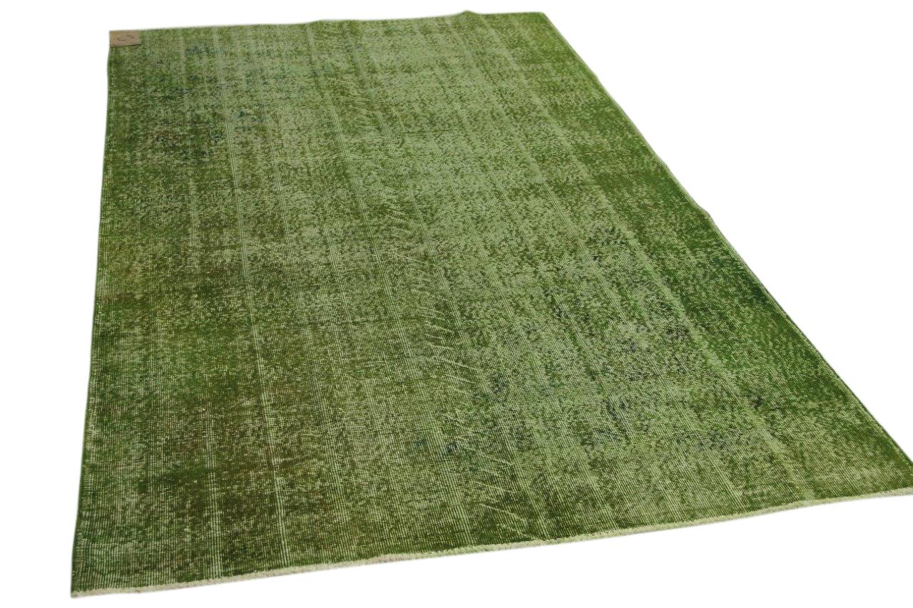 Vintage vloerkleed groen 262cm x 176cm nr12607