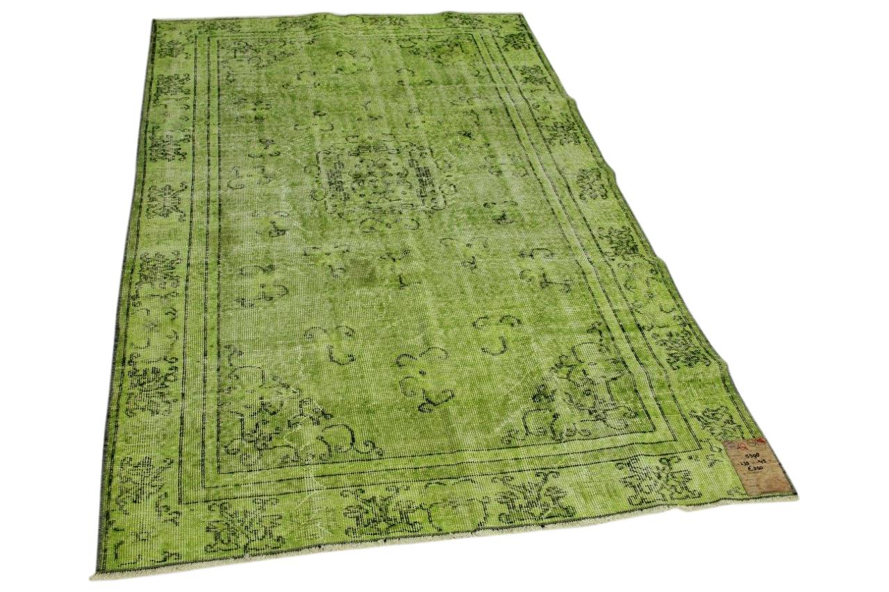 Vintage vloerkleed groen 235cm x 145cm nr5598