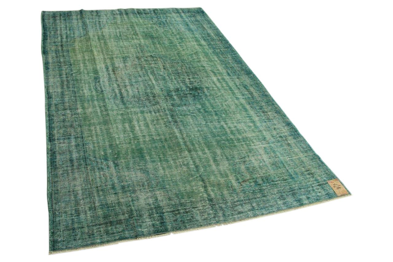 Vintage vloerkleed groen 321cm x 215cm nr5614