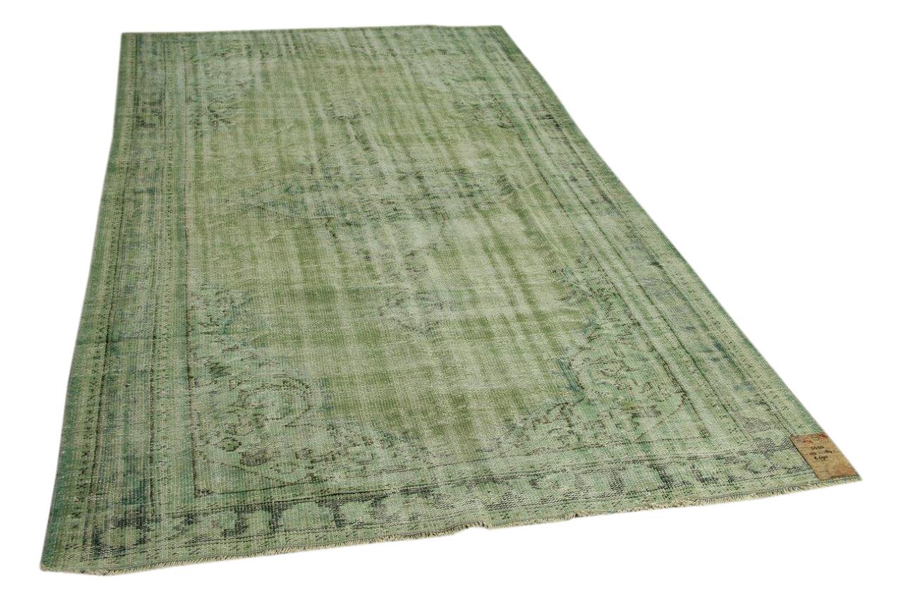 Vintage vloerkleed groen 303cm x 184cm nr5650