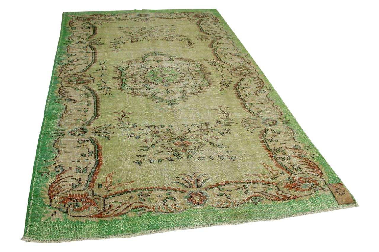 Vintage vloerkleed groen 272cm x 175cm nr5652