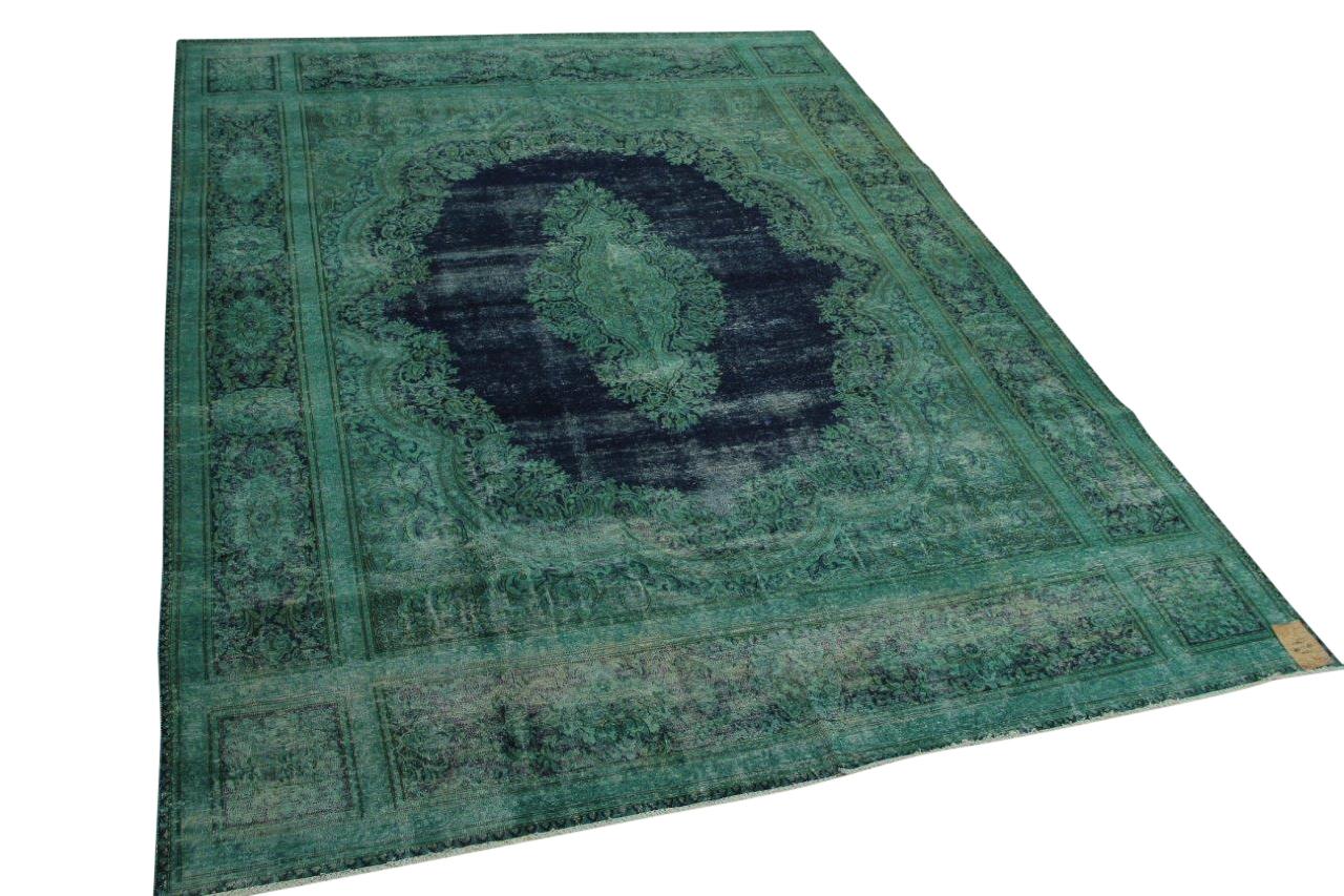 Vintage vloerkleed groen, blauw 378cm x 288cm nr12210