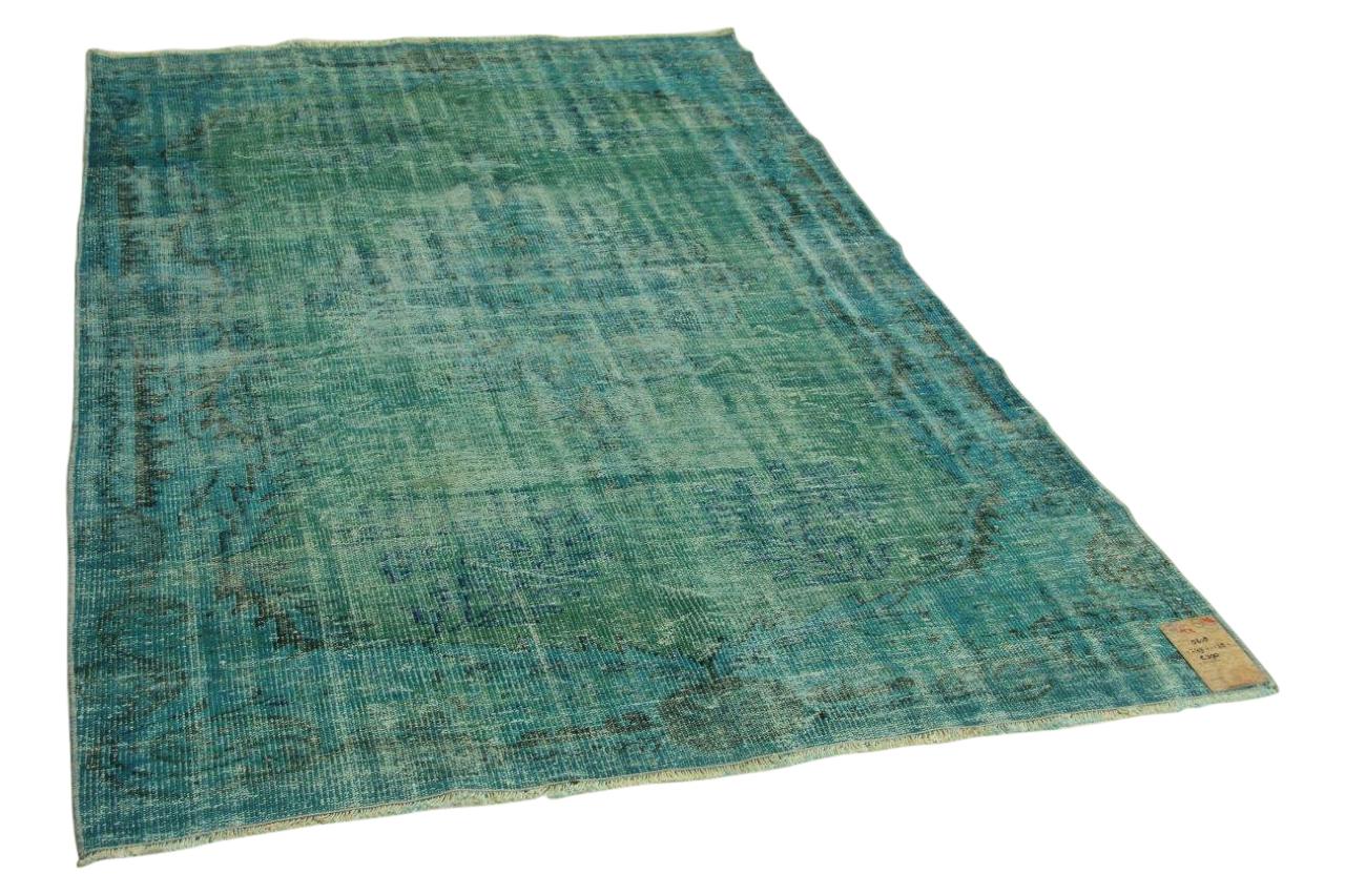 Vintage vloerkleed groenblauw 249cm x 178cm nr5618