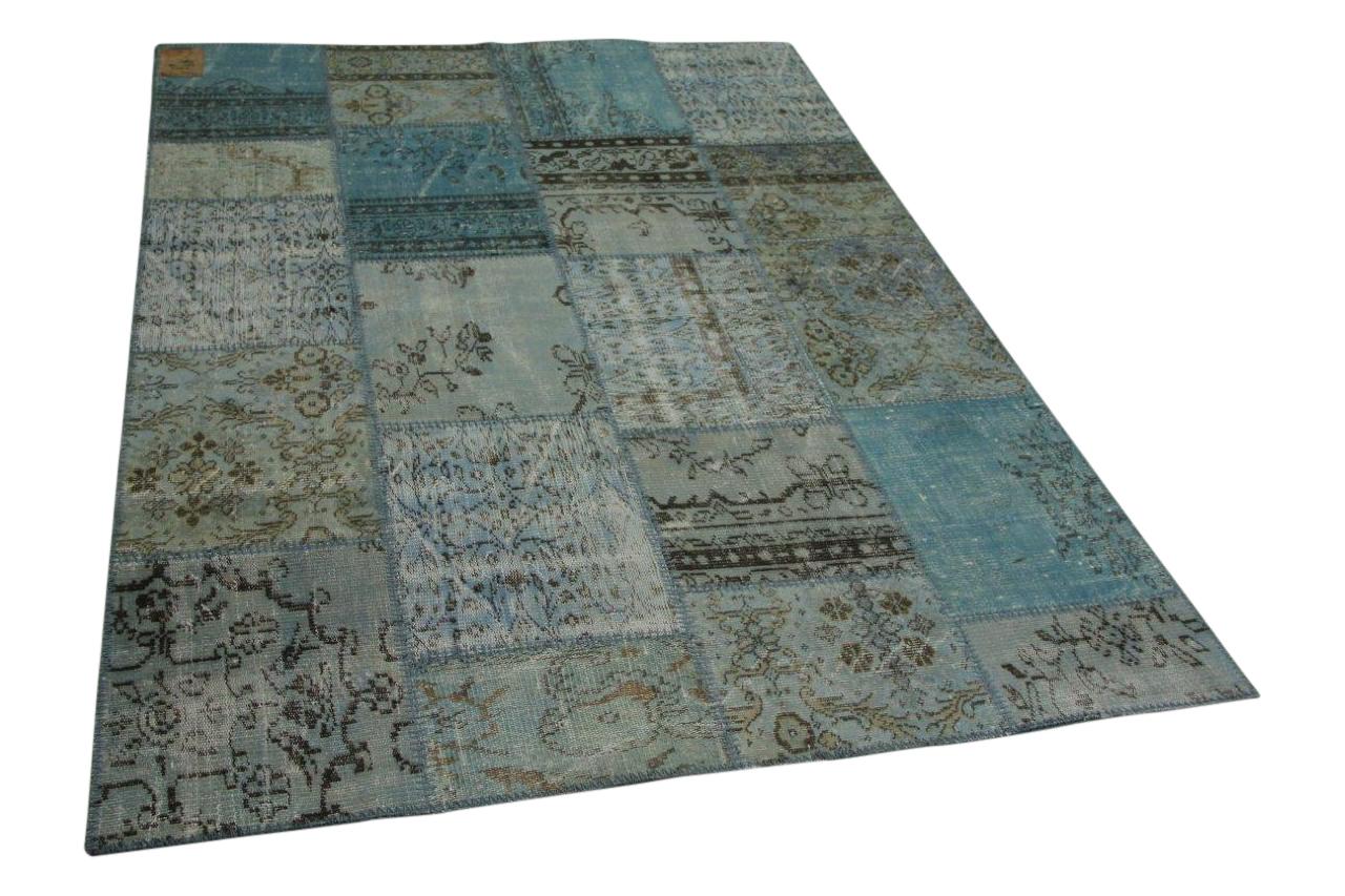 Patchwork vloerkleed ijsblauw 240cm x 170cm nr23211