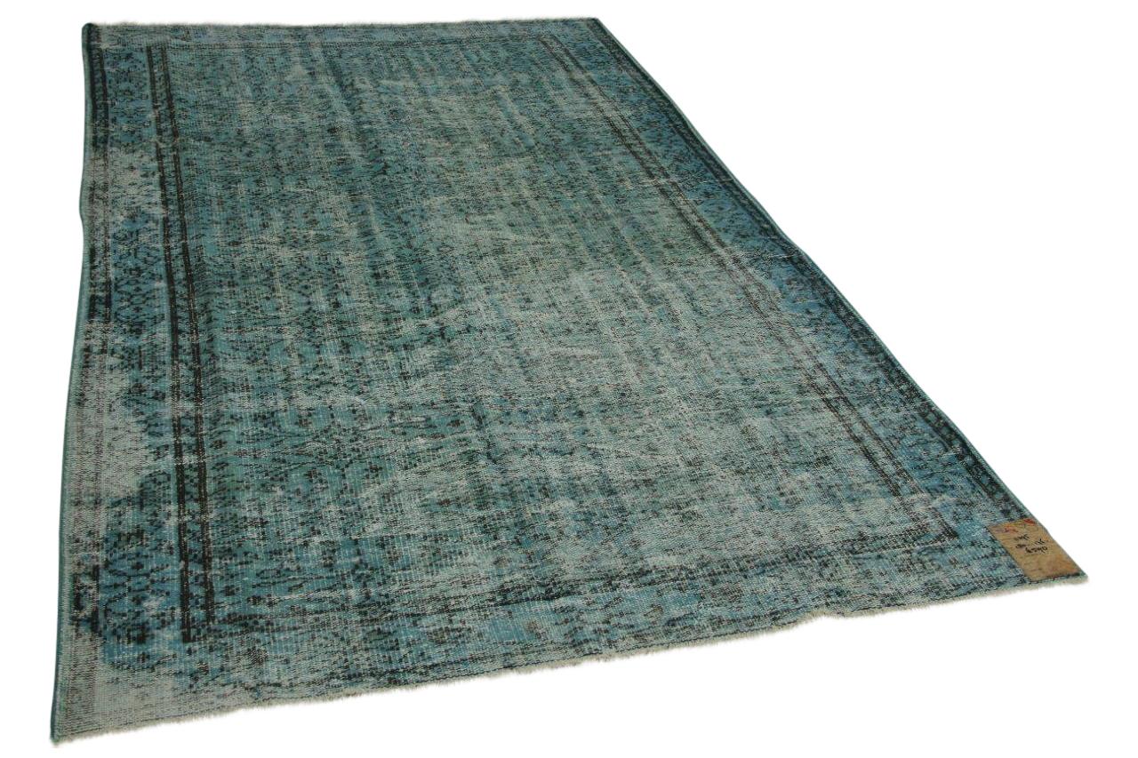 Vintage vloerkleed jeansblauw 280cm x 176cm nr11295