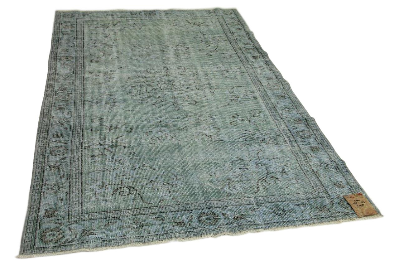 Vintage vloerkleed jeansblauw 265cm x 167cm nr5601