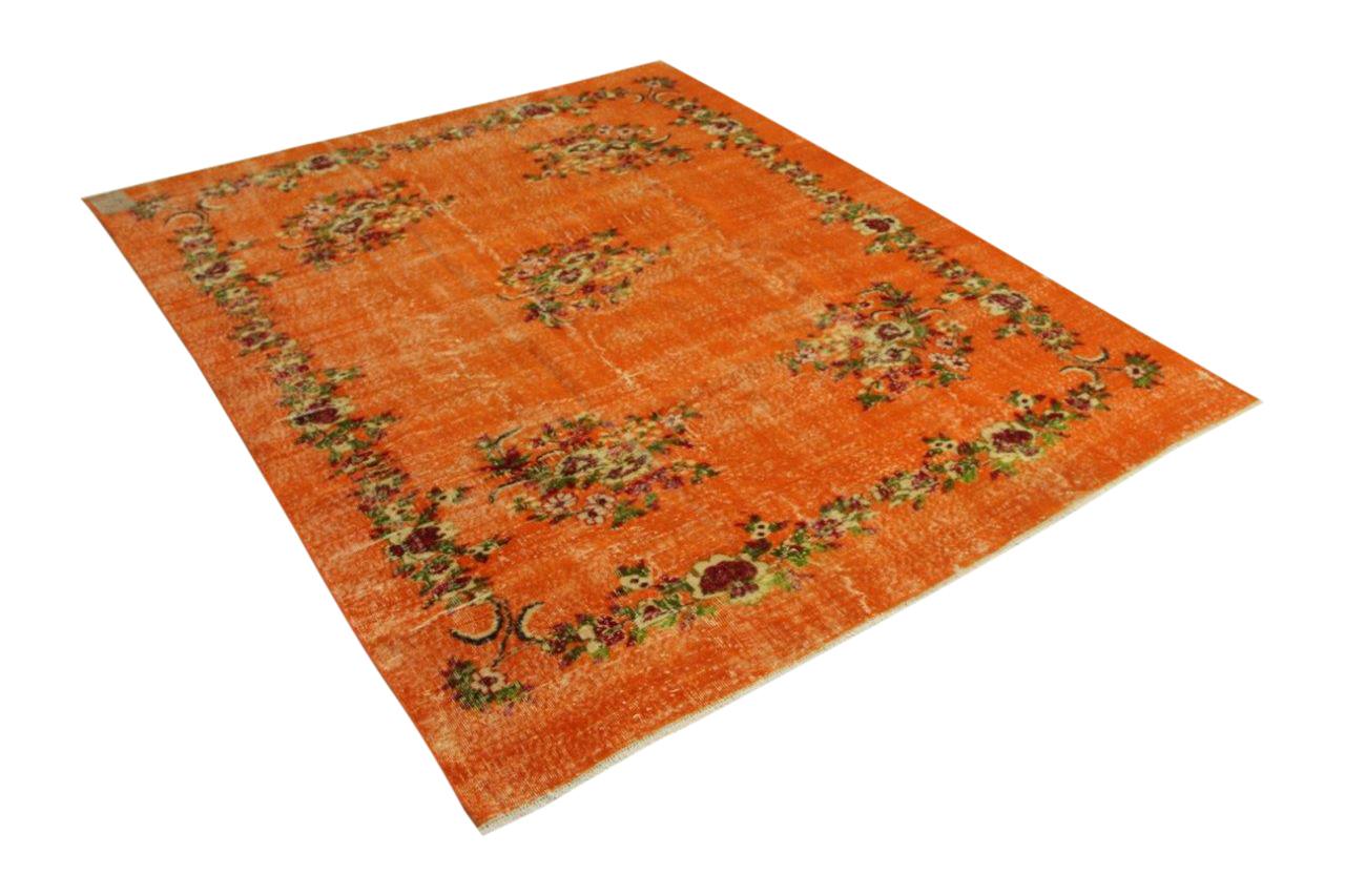 Vintage vloerkleed oranje 265cm x 213cm nr32683