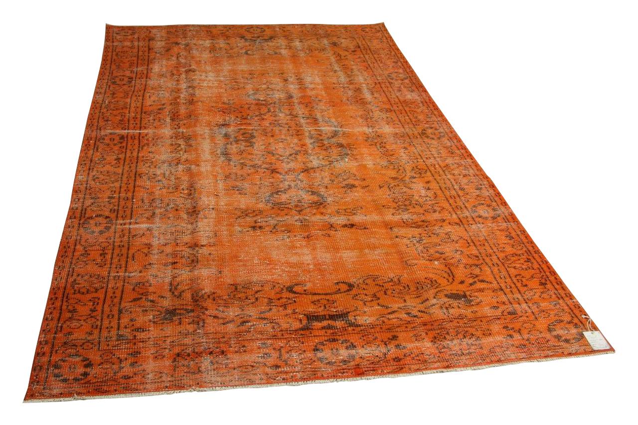 Vintage vloerkleed, oranje, 290cm x 180cm nr8333