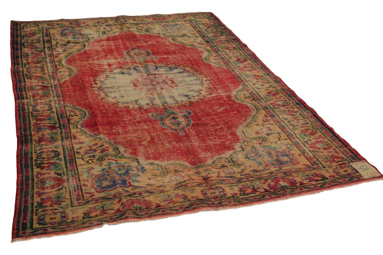 Vintage vloerkleed rood 275cm x 193cm nr11251