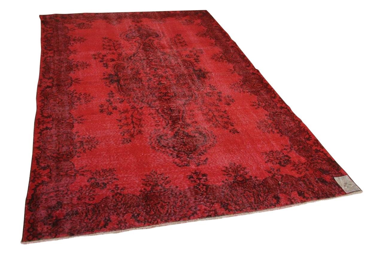 Vintage vloerleed rood 305cm x 186cm nr2249