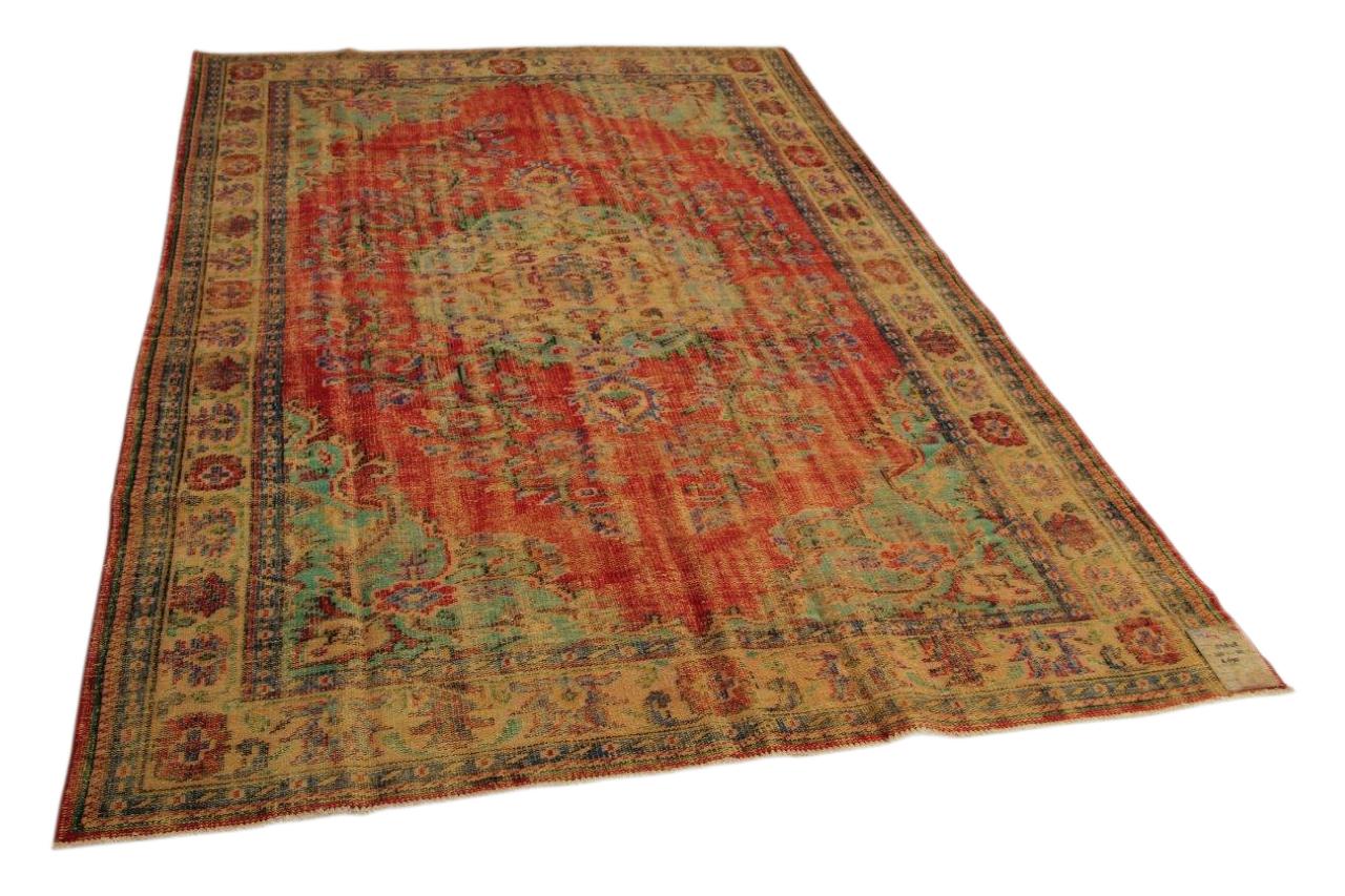Vintage vloerkleed rood 303cm x 201cm nr85848