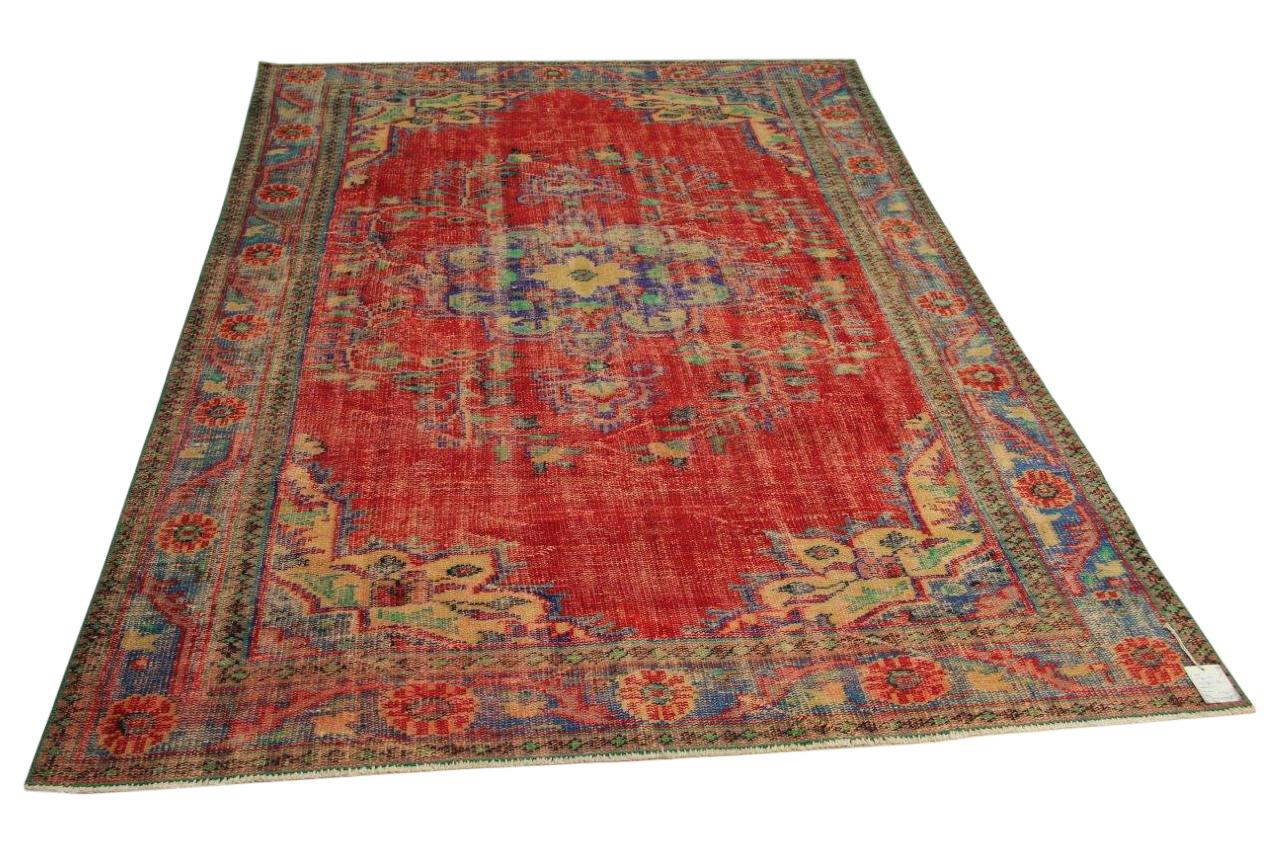 Vintage vloerkleed, rood, 270cm x 183cm nr90121