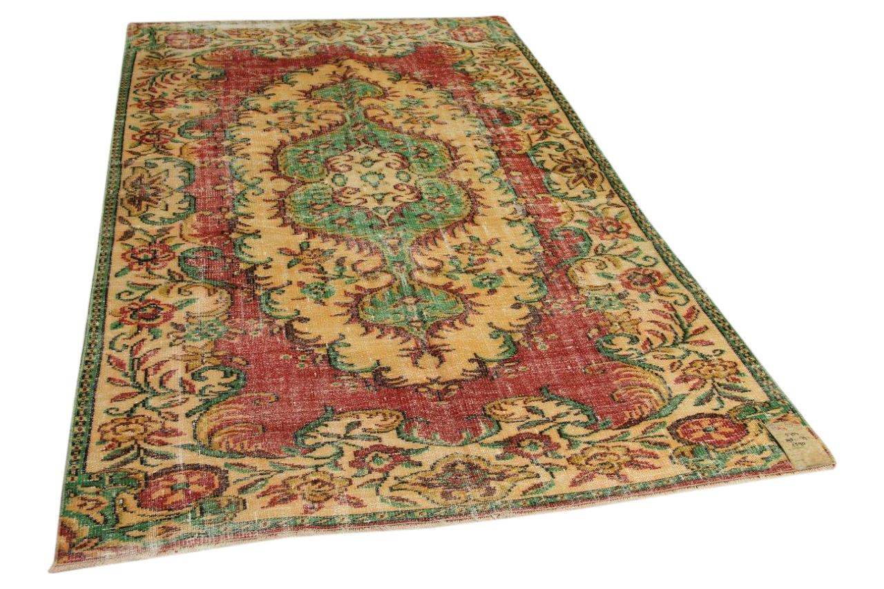 Vintage vloerkleed rood, groen 298cm x 179cm nr5754