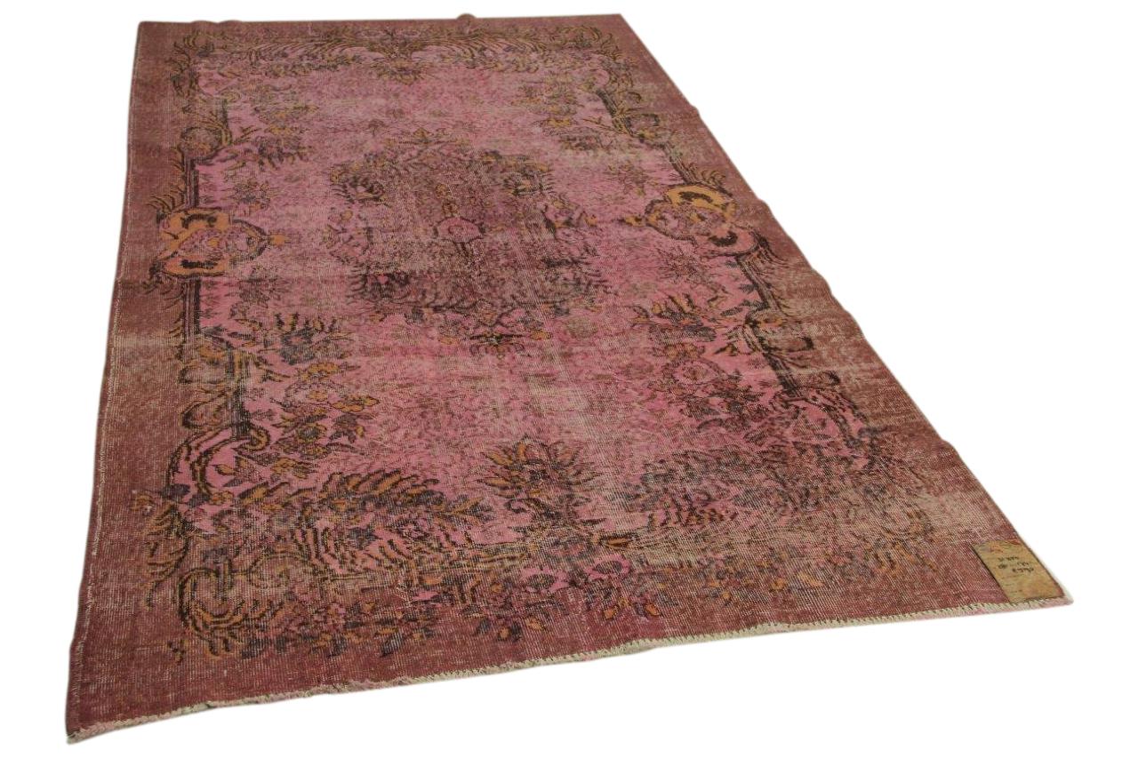 Vintage vloerkleed roze 281cm x 171cm nr31350