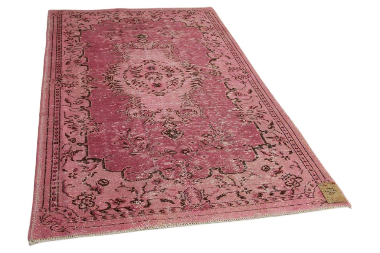 Vintage vloerkleed roze 272cm x 165cm nr31352