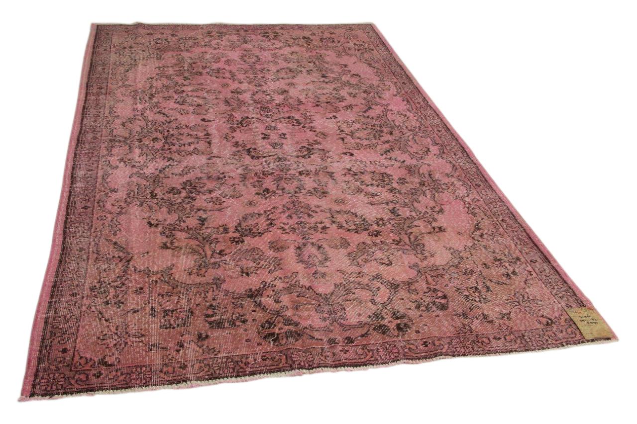 Vintage vloerkleed roze 291cm x 187cm nr31364
