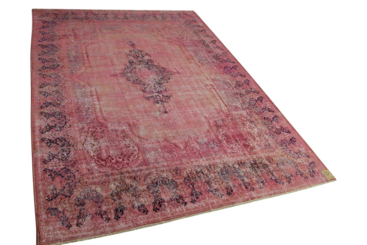 Vintage vloerkleed roze 413cm x 309cm nr56947