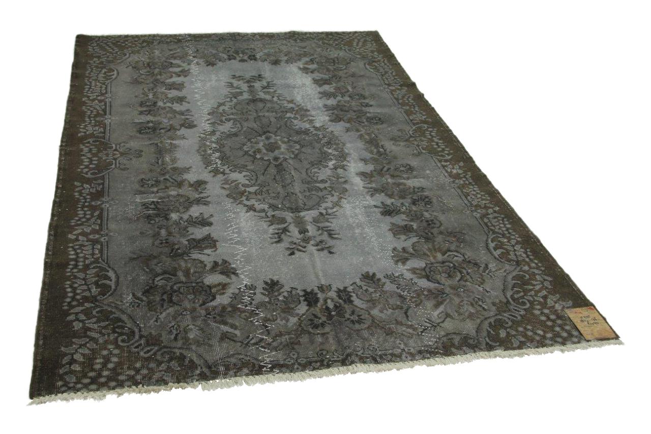 vintage vloerkleed zwart 282cm x 176cm nr11235