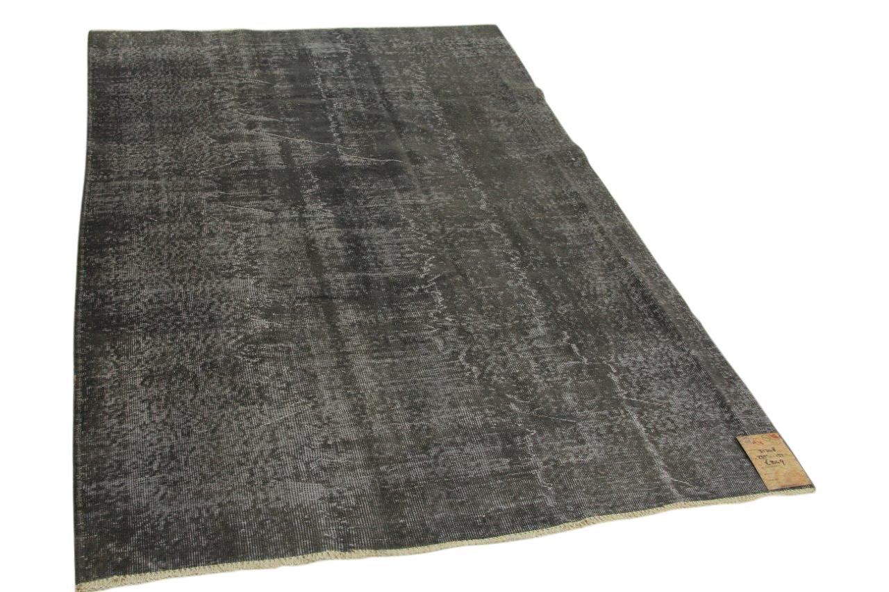 Vintage vloerkleed zwart 235cm x 153cm nr31348