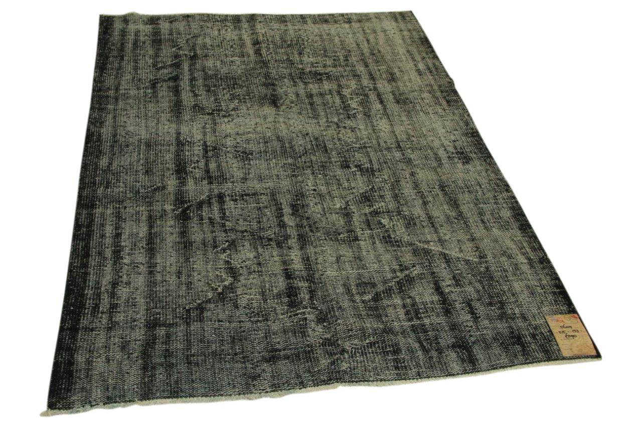Vintage vloerkleed zwart 215cm x 153cm nr5609