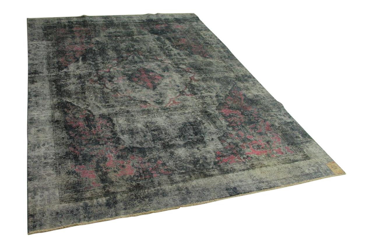 Vintage vloerkleed zwart 368cm x 274cm nr56973