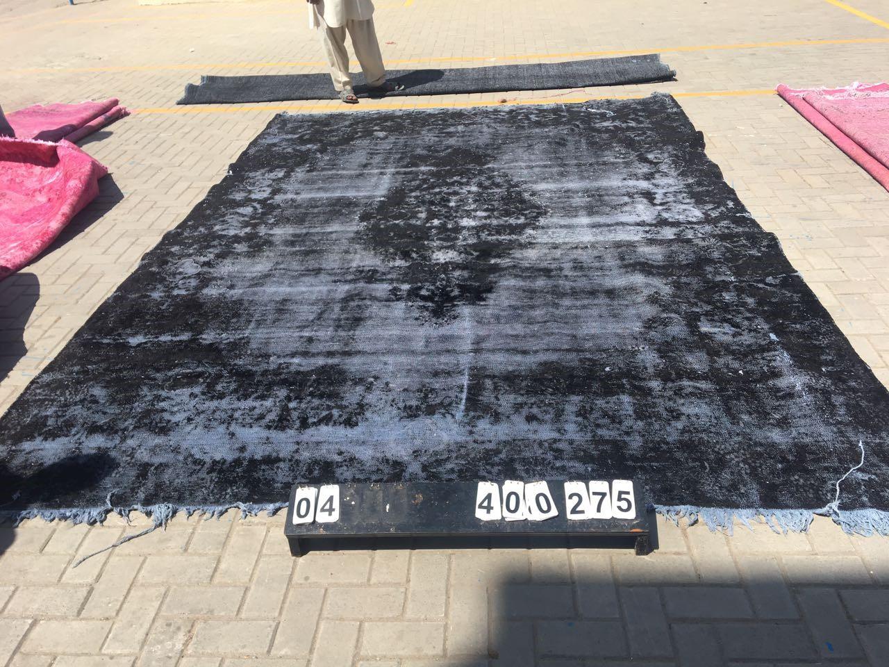 Vintage vloerkleed zwart 400cm x 275cm nr71004