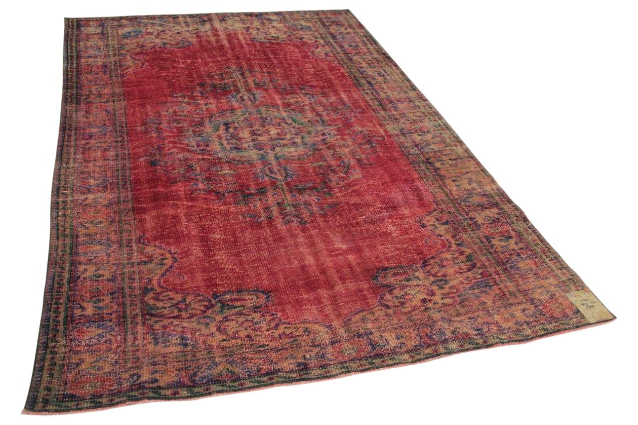Vintage vloerkleed rood 300cm x 190cm nr11277