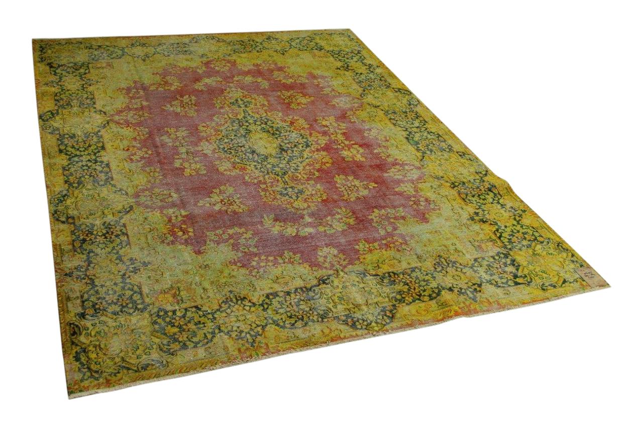 Vintage vloerkleed rood, geel, groen 339cm x 267cm nr56955