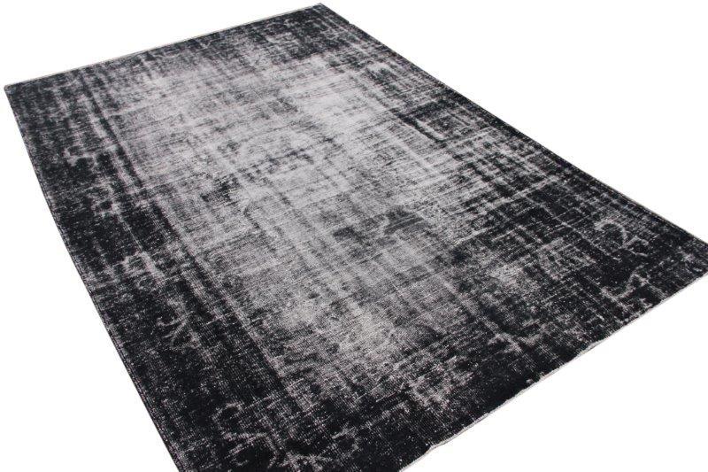Zwart vintage vloerkleed 310cm x 222cm  (nr2645)