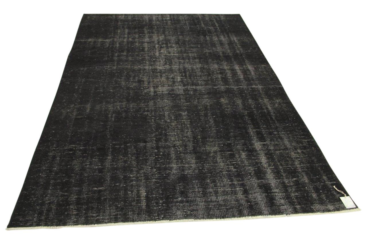 Vintage vloerkleed, zwart, 282cm x 182cm nr86115