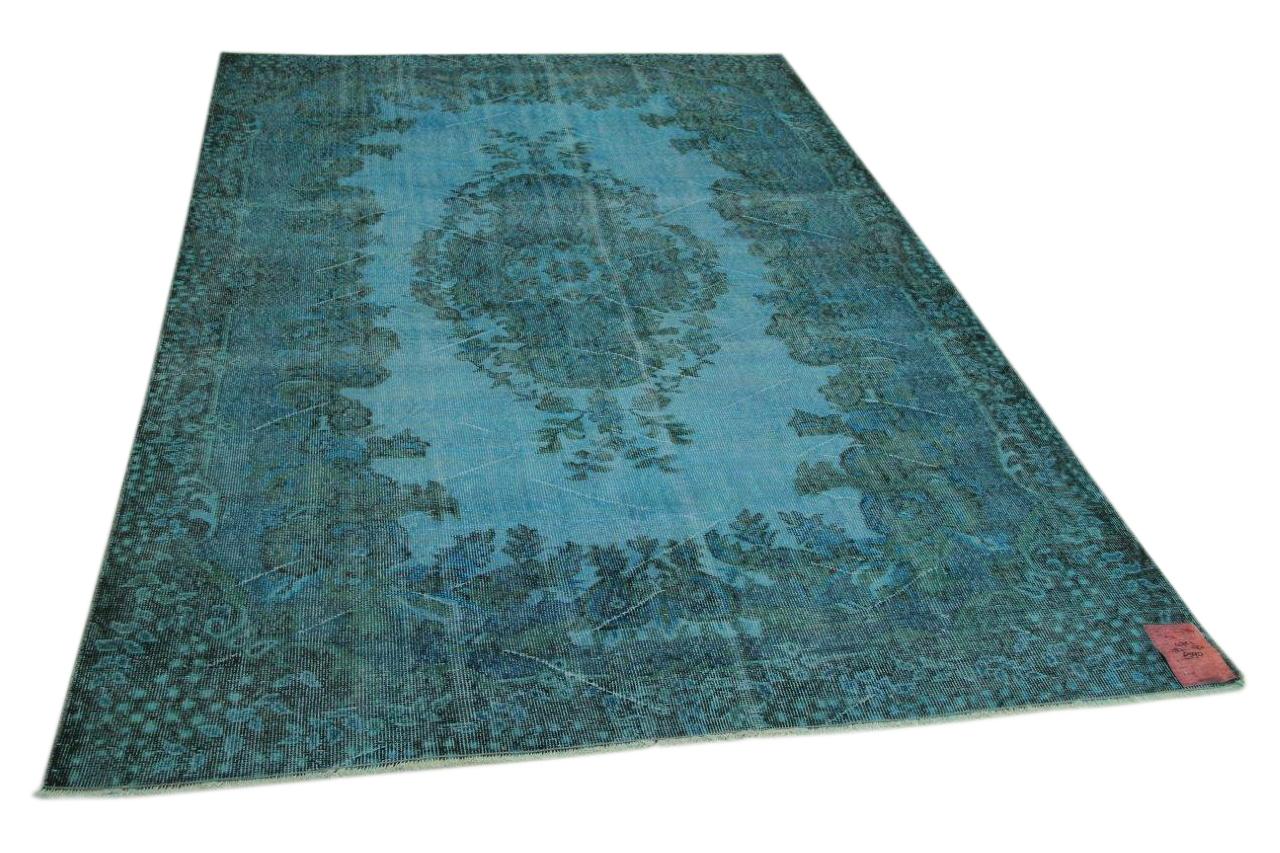 Vintage blauw vloerkleed 287cm x 190cm nr4721