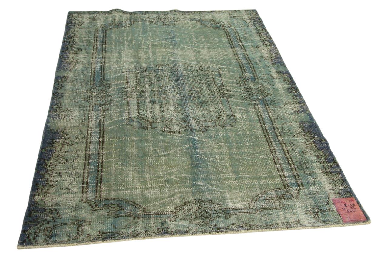 Vintage blauw vloerkleed 215cm x 136cm nr4750