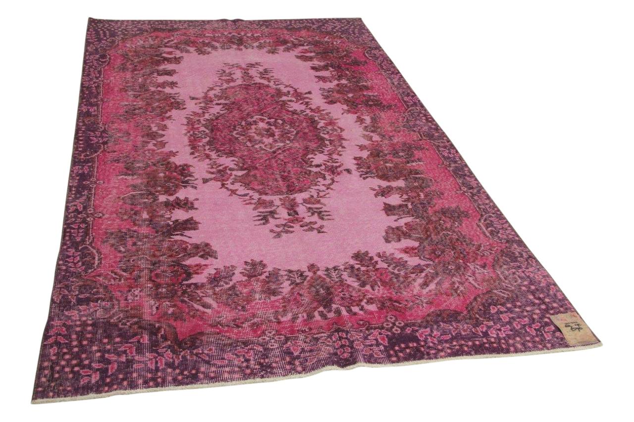 Roze vintage vloerkleed 268cm x 175cm nr31322