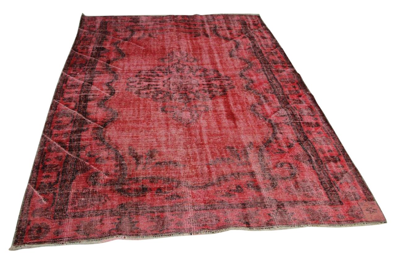 vintage vloerkleed rood 293cm x 185cm