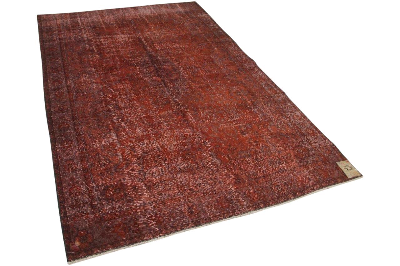 Vintage vloerkleed rood, bruin 7152 302cm x 189cm