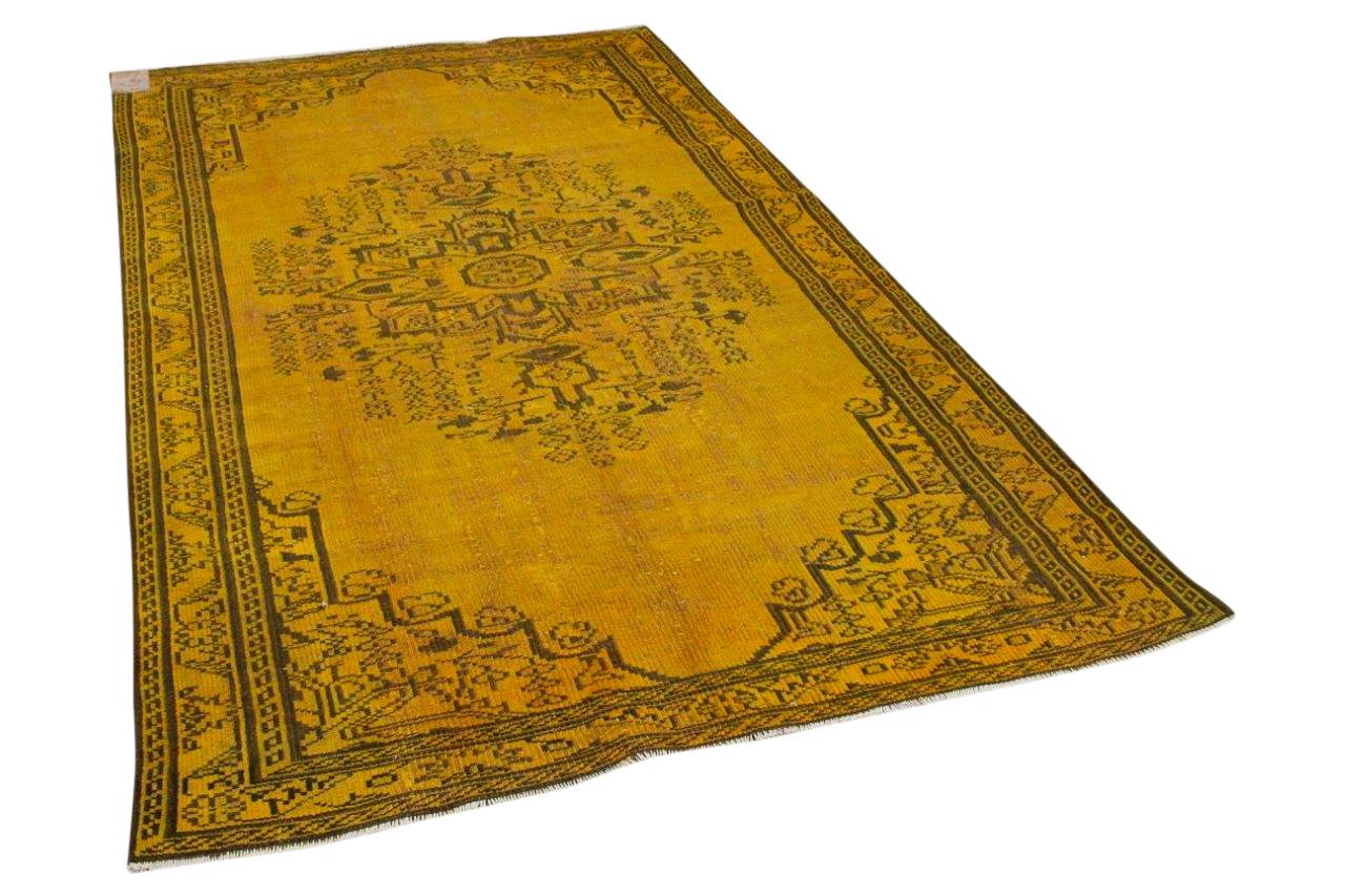 Vintage vloerkleed geel 10375 275cm x 170cm