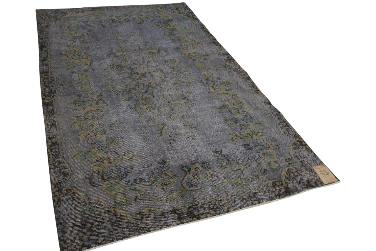 vintage vloerkleed grijs 10477 276cm x 173cm