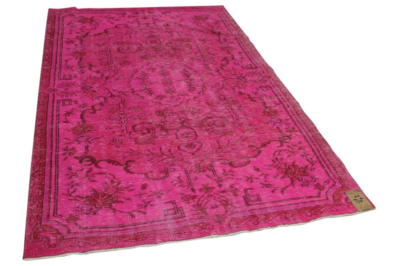 Vintage vloerkleed roze