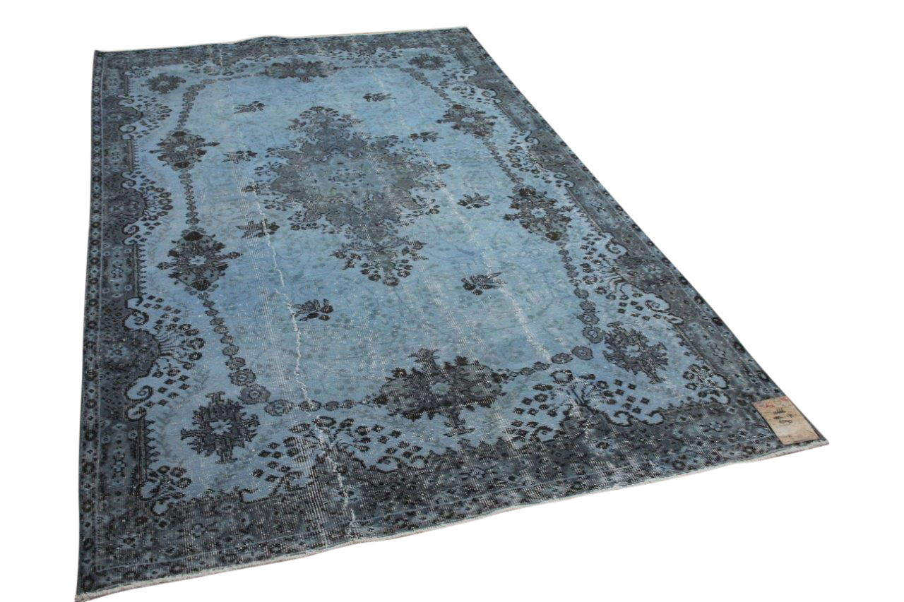 Vintage vloerkleed blauw 10666 283cm x 175cm