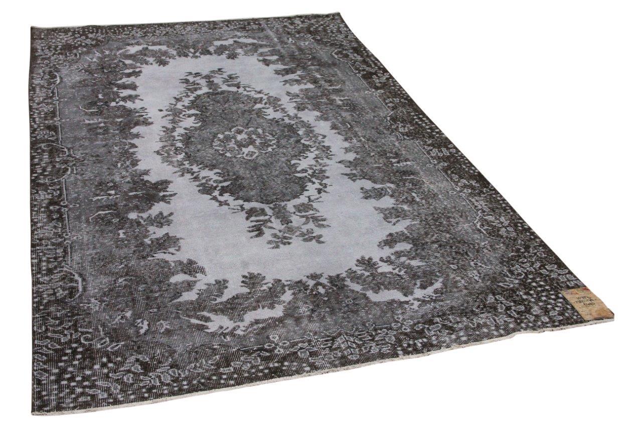 Vintage vloerkleed grijs 10777 278cm x 176cm