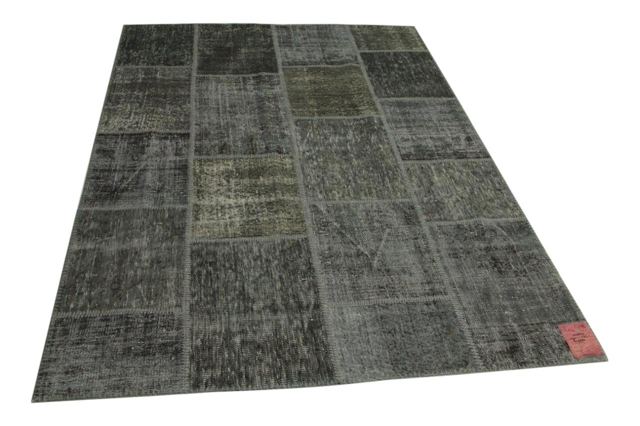 grijs patchwork vloerkleed 241cm x 171cm nr10851