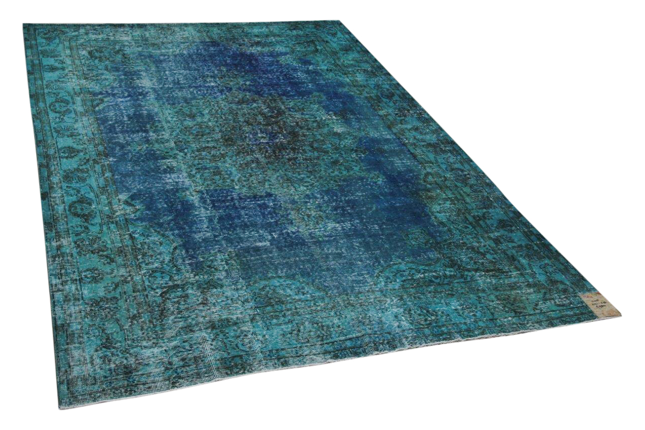 Vintage vloerkleed blauw 11015 312cm x 218cm