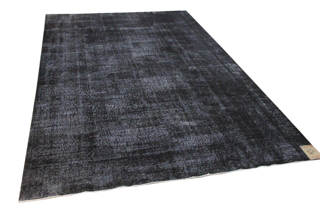 Vintage vloerkleed zwart 332cm x 207cm