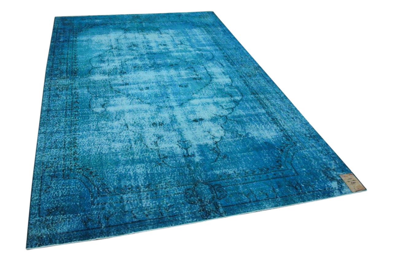 Vintage vloerkleed blauw 11021 311cm x 202cm