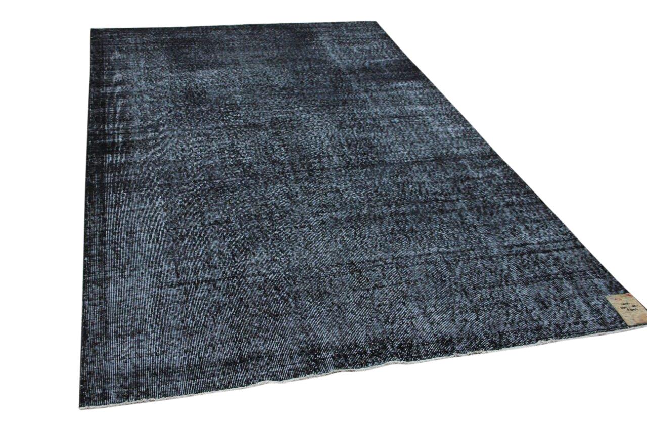 Vintage vloerkleed zwart 11026 290cm x 185cm