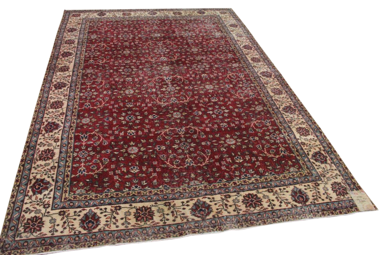 Vintage vloerkleed rood 11034 313cm x 211cm